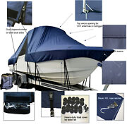 Release 208 Rx Center Console Fishing T-top Hard-top Boat Cover Navy