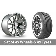 4 X 20 Threesdm 0 01 Silver Polished Alloy Wheel Rims And Tyres - 275/35/20