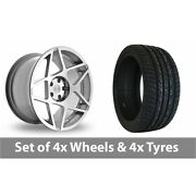 4 X 20 Threesdm 0 08 Silver Polished Alloy Wheel Rims And Tyres - 255/45/20