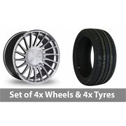 4 X 19 Threesdm 0 04 Silver Polished Alloy Wheel Rims And Tyres - 235/35/19
