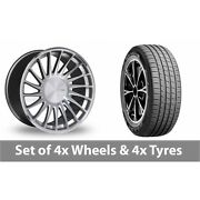 4 X 19 Threesdm 0 04 Silver Polished Alloy Wheel Rims And Tyres - 255/45/19