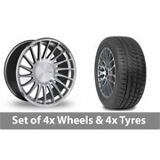 4 X 19 Threesdm 0 04 Silver Polished Alloy Wheel Rims And Tyres - 265/30/19