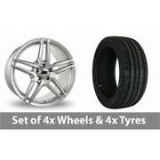 4 X 19 Drc Dmb Silver Alloy Wheel Rims And Tyres - 245/45/19
