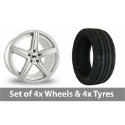 4 X 19 Drc Dma Silver Alloy Wheel Rims And Tyres - 225/35/19