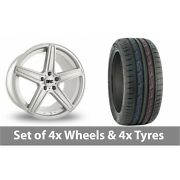 4 X 19 Drc Dma Silver Alloy Wheel Rims And Tyres - 235/50/19