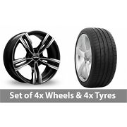 4 X 19 Gmp Italy Reven Black Polished Alloy Wheel Rims And Tyres - 285/30/19