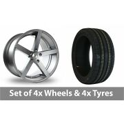 4 X 18 Ac Wheels Star Five Grey Alloy Wheel Rims And Tyres - 245/45/18