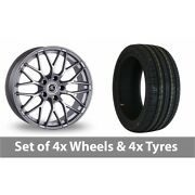 4 X 19 Ac Wheels Saphire Silver Alloy Wheel Rims And Tyres - 245/40/19