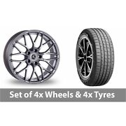 4 X 19 Ac Wheels Saphire Silver Alloy Wheel Rims And Tyres - 235/45/19