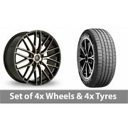 4 X 19 Ac Wheels Syclone Black Alloy Wheel Rims And Tyres - 235/45/19