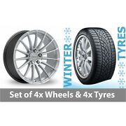 4 X 20 Inovit Force 5 Silver Alloy Wheel Rims And Tyres - 265/35/20
