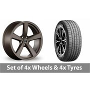 4 X 19 Diewe Trina Brown Alloy Wheel Rims And Tyres - 255/45/19