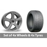 4 X 18 Diewe Barba Silver Alloy Wheel Rims And Tyres - 215/50/18