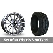4 X 20 Bola Xtr Silver Polished Alloy Wheel Rims And Tyres - 255/45/20