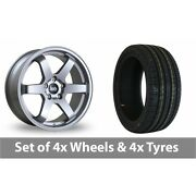 4 X 18 Bola B1 Silver Alloy Wheel Rims And Tyres - 255/45/18