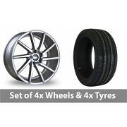 4 X 19 Bola Zzr Silver Polished Alloy Wheel Rims And Tyres - 225/35/19