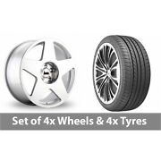 4 X 19 Bola B10 Silver Polished Alloy Wheel Rims And Tyres - 265/35/19