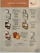 1954 Paper Ad Asr Ascot Pocket Lighters Leather Chrome Gold Sterling Silver