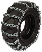30x8x15 Forklift Tire Chains 8mm 2-link Spacing Hyster Lift Truck Snow Traction
