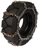 28x12x15 Forklift Tire Chains 8mm Square Link Hyster Lift Truck Snow Traction