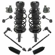 Front Strut Spring Assemblies Sway Links Tie Rods Ball Joints Rack Boots For Vw