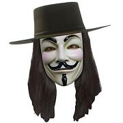 White Anonymous Face Mask V For Vendetta Costume Purge Mask Halloween Prop Lot