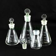 50/100/150/250ml Glass Erlenmeyer Flask Conical Bottle Lab Chemistry Glassware