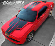 For 2011-2014 Dodge Challenger T Hood Roof Trunk Rally Stripes Decals Racing