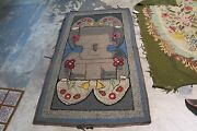 Vintage Alexander Smith Primitive American Hand Hooked Rug On Burlap 3and0392 X 5and0397