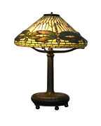 Authentic Antique Dragonfly Lamp
