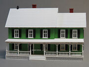 Mth Railking Country House Christmas Lights Green O Gauge Lighted 30-90520 New