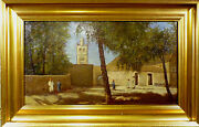 N. Abel Boulineau A Square In Algeria With People And Trees.
