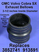2 Omc Cobra Volvo Sx 3-1/2 Inch Id Rubber Exhaust Bellows 3852741 913591 Y Pipe