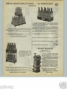 1932 Paper Ad Marquette Oil Service Gas Station Glass Quart Bottles Display Rack
