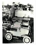 Vintage Bandw Publicity Photo Variety Of Pedal Cars