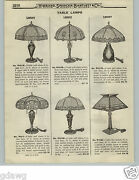 1919 Paper Ad 4 Pg Floor Table Slag Art Glass Lamp Shade Shades Library Lacquer