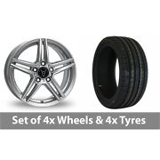 4 X 20 Wolfrace M10 Silver Alloy Wheel Rims And Tyres - 245/40/20