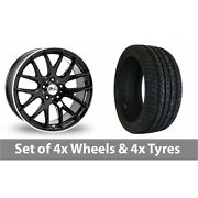 4 X 20 Zito Zl935 Black Polished Alloy Wheel Rims And Tyres - 295/40/20