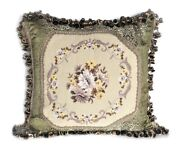 Needlepoint Pillow French Daisy Pettipoint Throw Pillowcase Cushion Cover 22x22