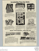 1928 Paper Ad The Ives Railroad Toy Electric Train Set Parlor Chair Car Felix