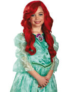 Disney Princess Ariel Childand039s Long Red Curly Costume Dress Up Wig