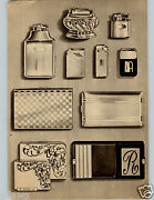 1946 Paper Ad 2 Pg Lighters Avedon Sterling Silver Thorens Ronson Elgin Compact