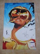 Johnny Depp Fearand Loathing Museum Piece Autographed 20x30 Photo Psa Certified
