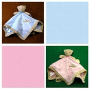 New/nwttoy Teddy Security Blanketbaby Boys And Girlsplush Toytwins Pink And Blue
