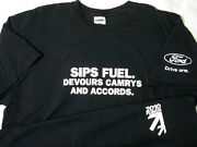 Ford 2010 Fusion Andreg Sips Fuel Devours Camrys - Navy Xl Large T-shirt New Nwot