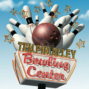 Ten Pin Alley Bowling Center By Anthony Ross Art Print Bowl Ball Poster 44x44