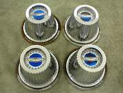 1964 Ford Galaxie Hubcaps Centers Emblems Cones Chrome Center Set Of 4