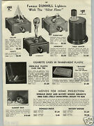 1942 Paper Ad Dunhill Silent Flame Table Cigarette Lighters Sail Boat Plane