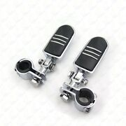 1 1-1/4 Highway Radical Flame Foot Pegs Clamps For Harley Sportster 883 1340