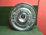 Oldsmobile 14 Straight Wire Wheel Cover With Small Black Emblem Used Oem